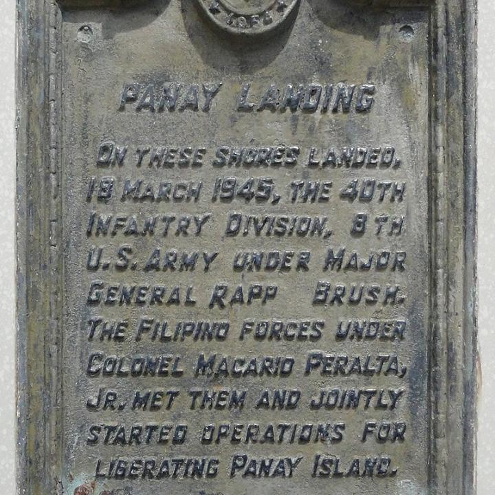 Panay Landing historical marker