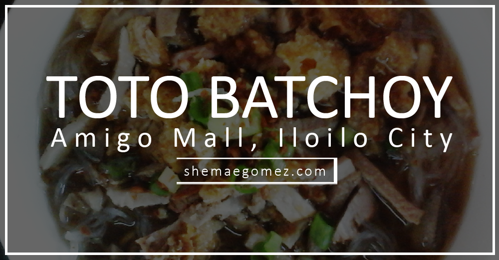 Toto Batchoy: Warm Hearty Soup