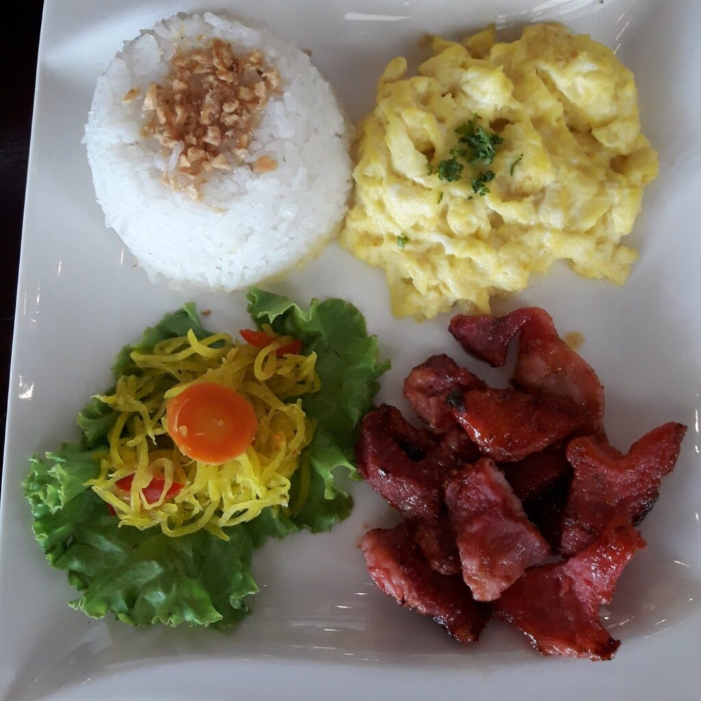 all day breakfast pork tocino