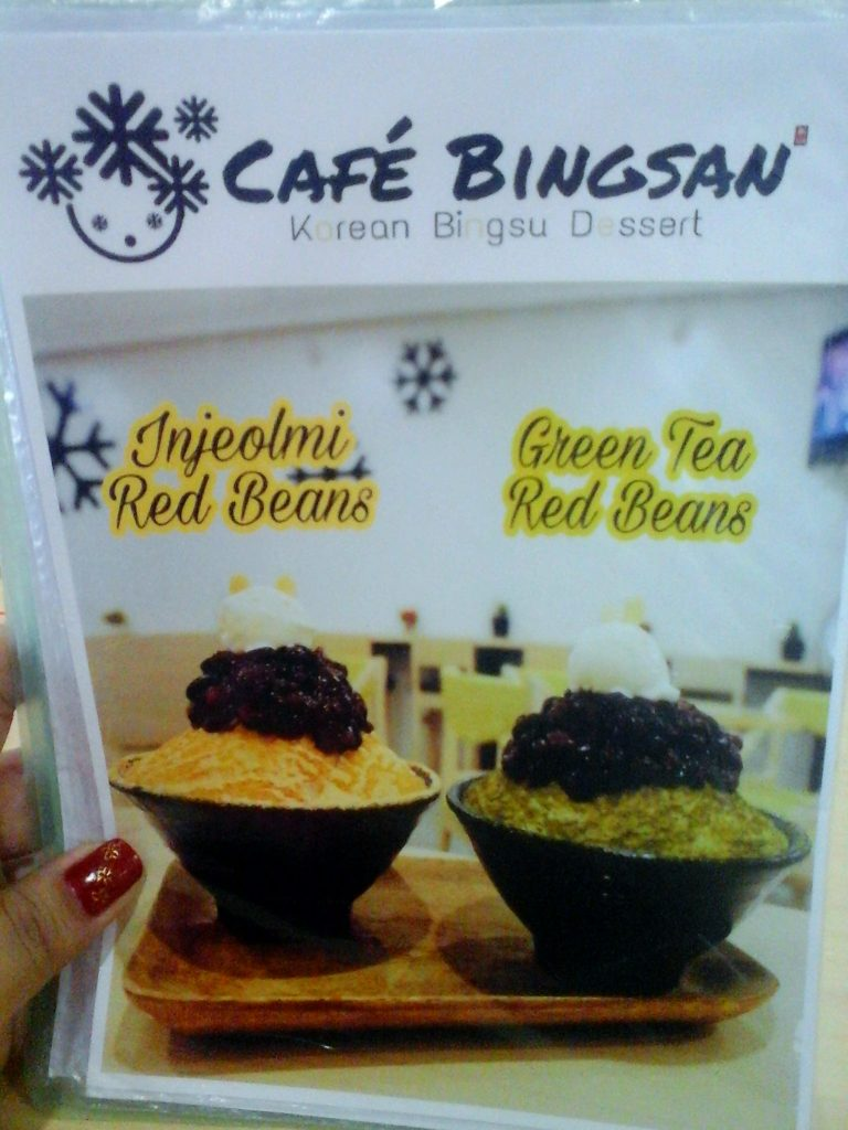 Bingsan Cafe Menu 2