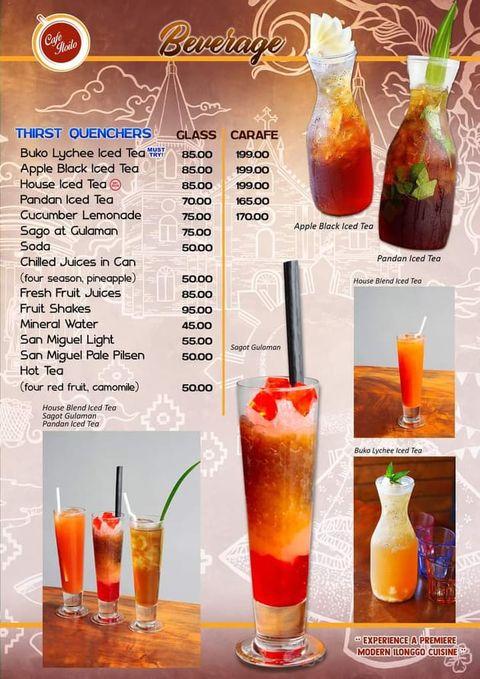 cafe iloilo menu