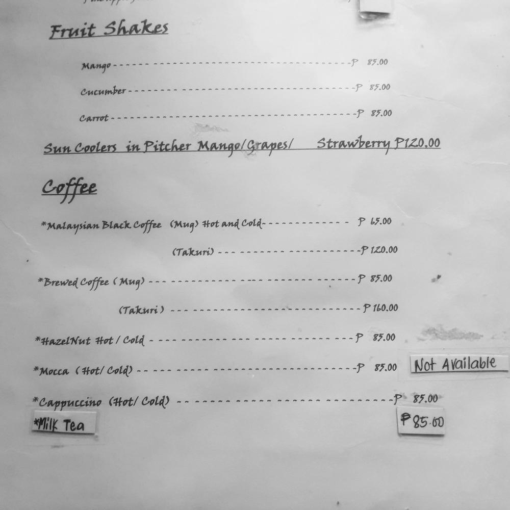 takuri cafe menu coffee