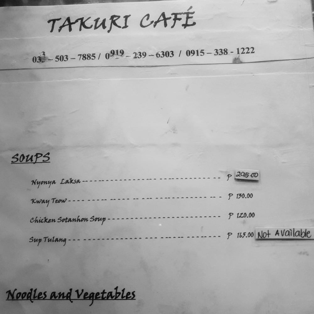 takuri cafe menu soup