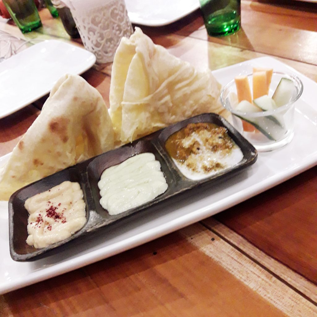 Roti Platter by Live by Healthy Kitchen