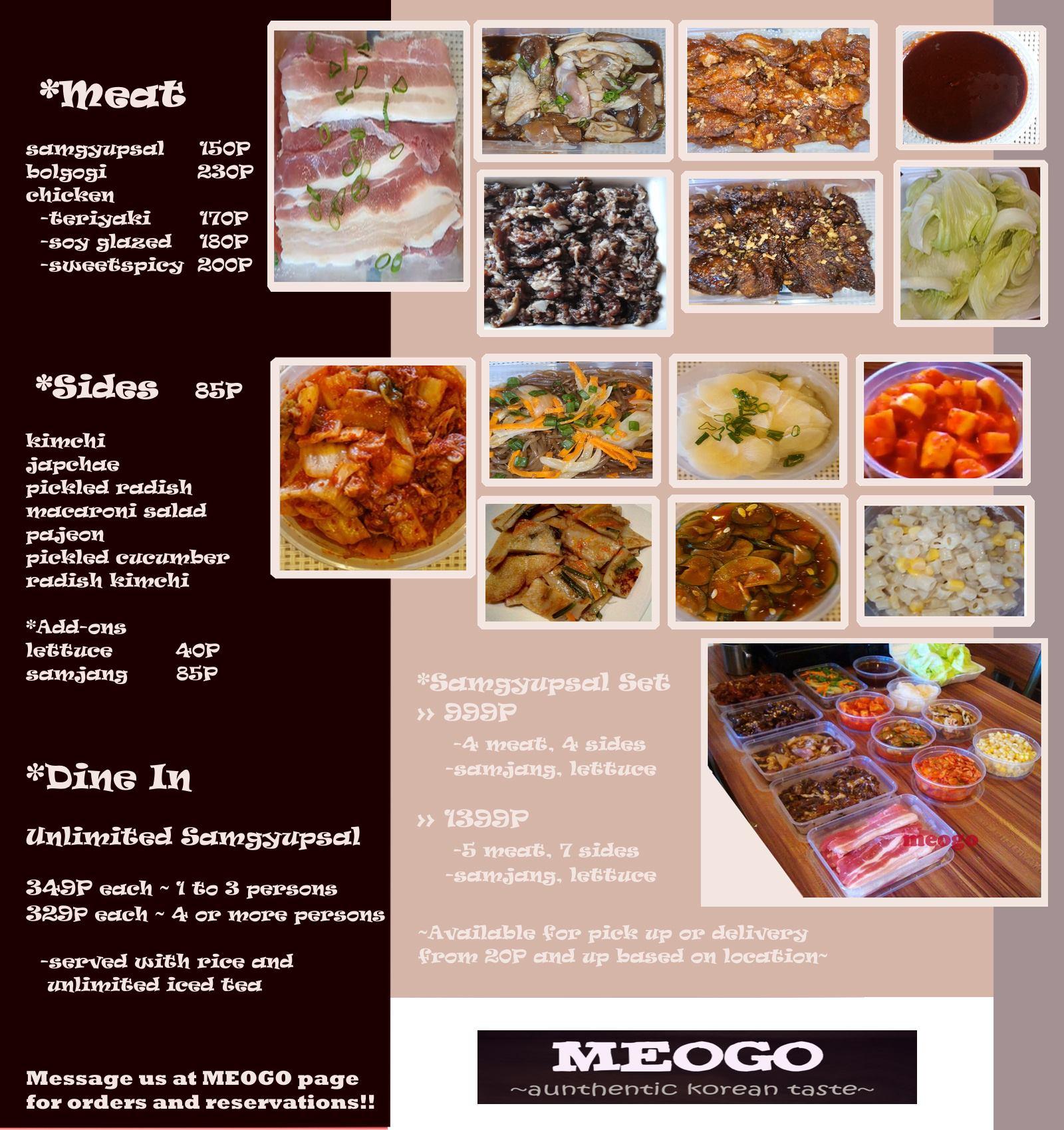 meogo menu