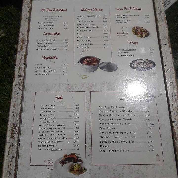 midway menu