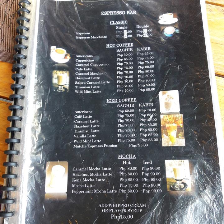 yarim cafe menu