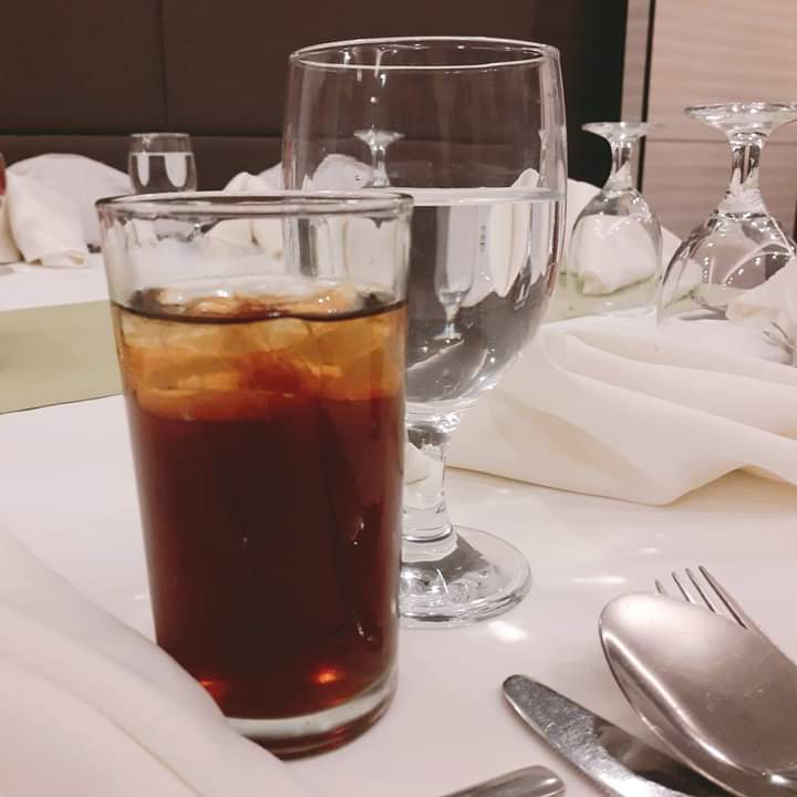 m2 mixed in iced tea