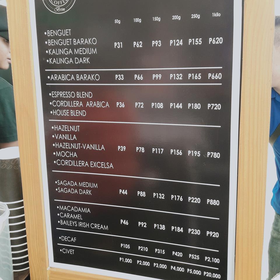 Little Farmers Coffee menu