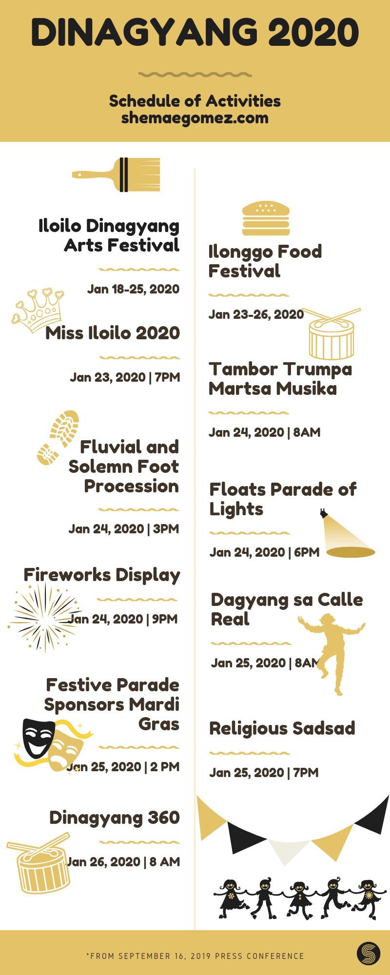 dinagyang 2020 schedule