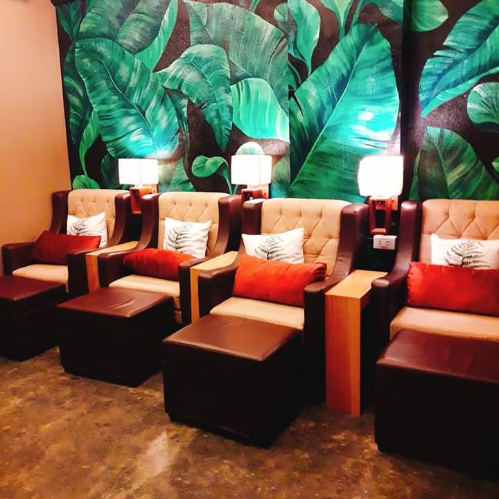 leaf healing spa chairs