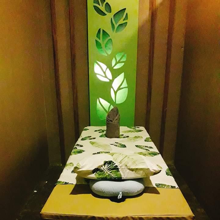 leaf healing spa massage area