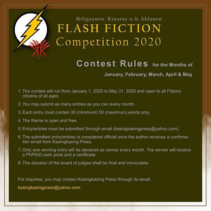 FLASH FICTION Competition 2020 Mechanics