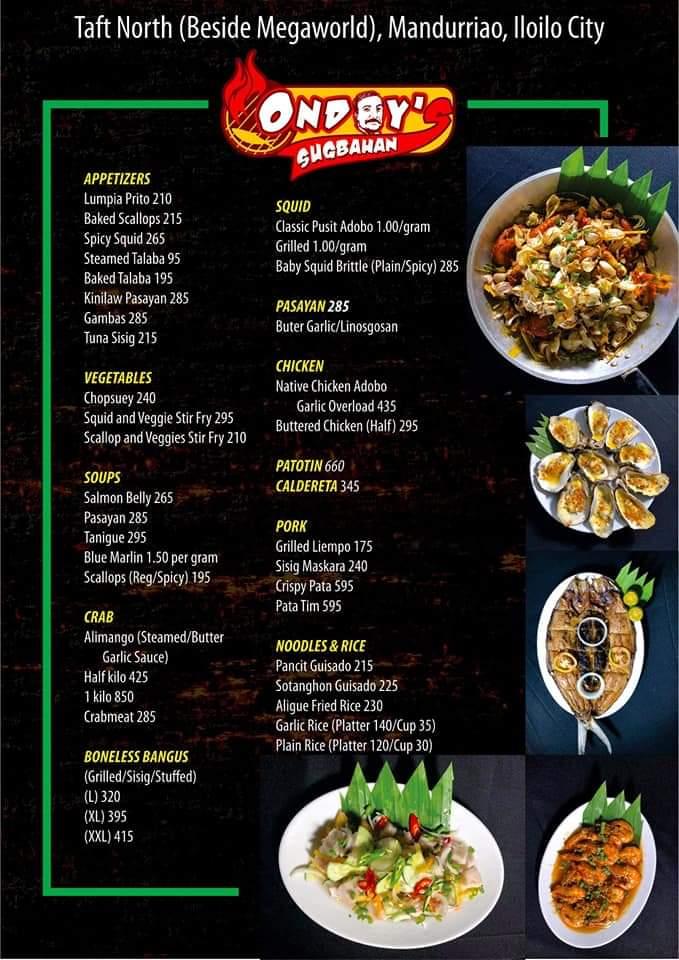 Ondoy menu