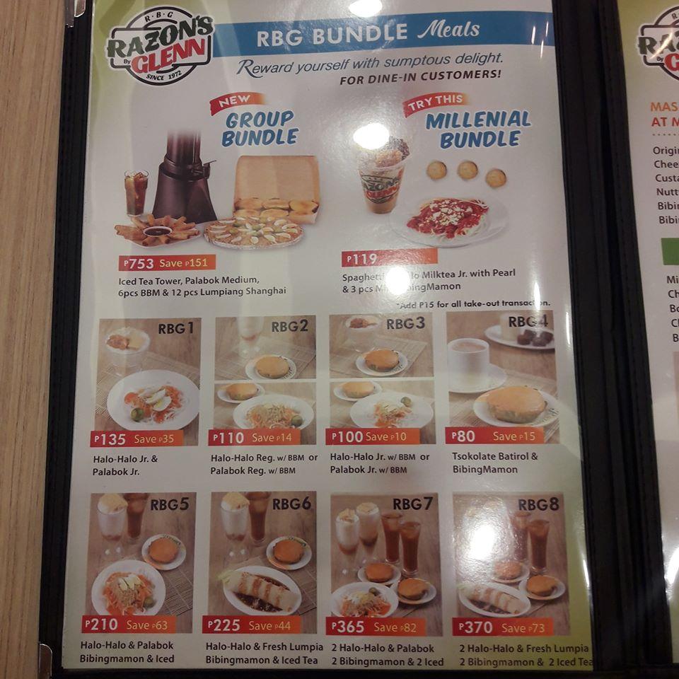 razons menu