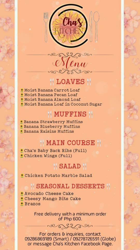 cha's kitchen online menu