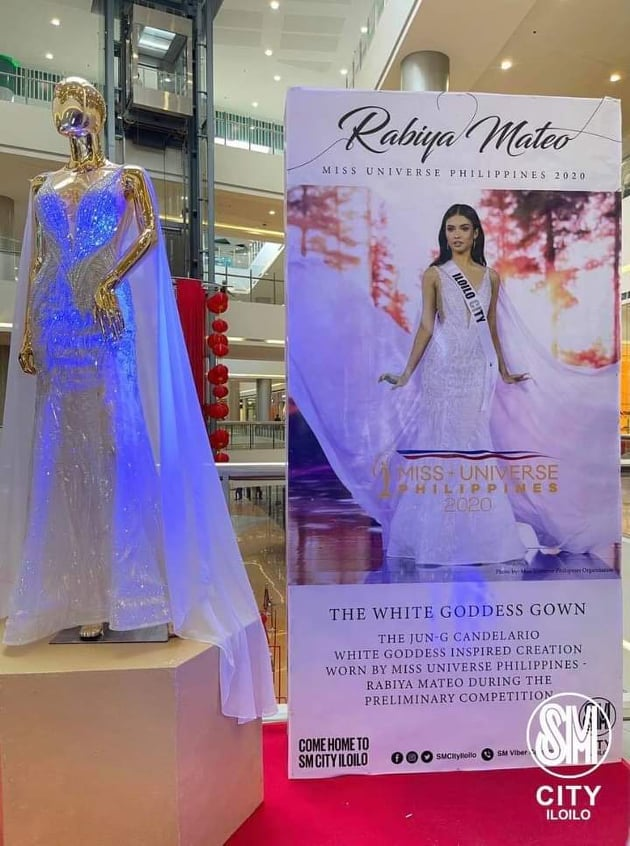 white goddess gown