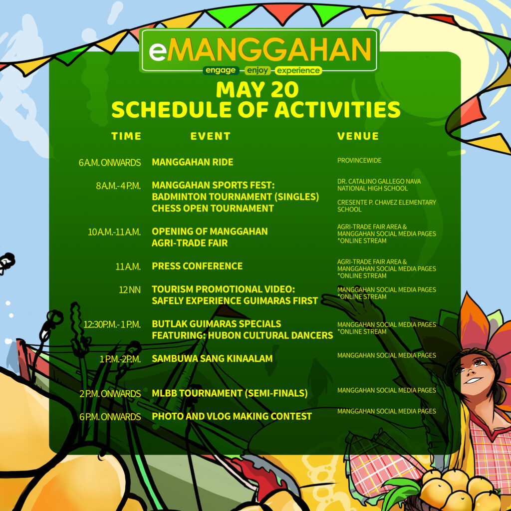 manggahan 2021 schedule day 1