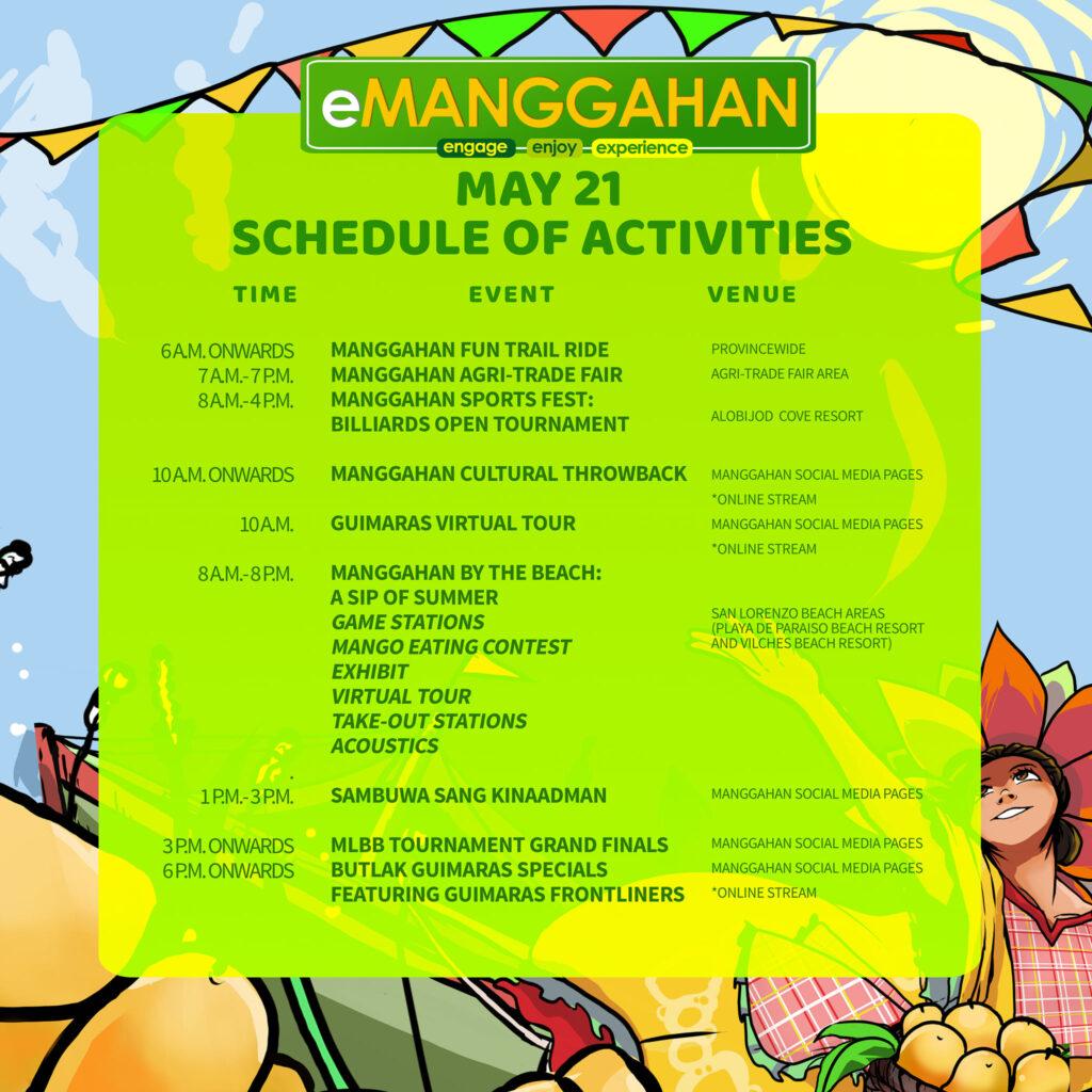 manggahan 2021 schedule day 2