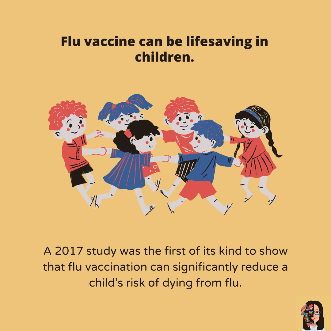 What are the benefits of flu vaccination 7